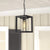 Emliviar outdoor hanging lights Modern Exterior Hanging Light in Black Finish with Seeded Glass