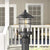 Emliviar Post lights Outdoor Light Exterior Post Lantern in Black Finish with Seeded Glass