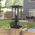 Emliviar Post lights Post Light Fixtures Pillar Light in Black Finish with Seeded Glass