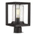 Emliviar Post lights Post Lights Outdoor Fixture Lamp Black Finish with Seeded Glass