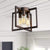Emliviar Semi-Flushmount Ceiling Light Fixture Industrial Semi-Flush Mount with Metal Cage