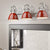Emliviar Vanity lights Bathroom Light Fixtures Vanity Light Red Finish Metal Shade