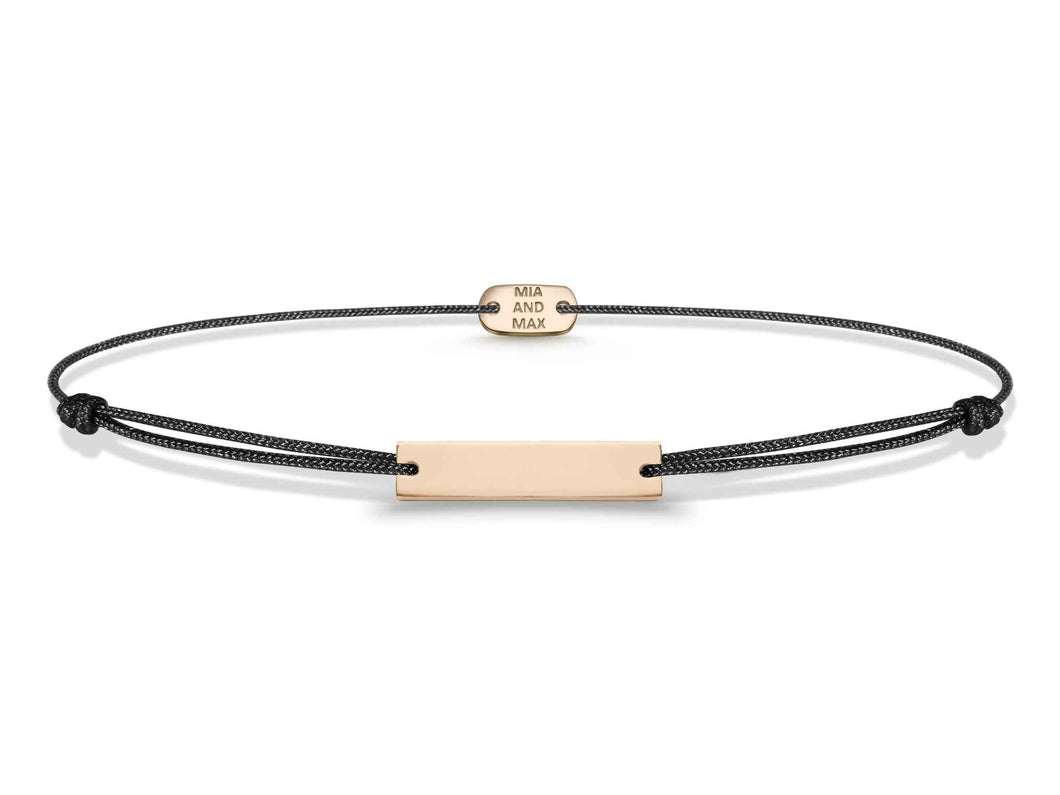 The Bar Friendship Bracelet 18k Rose Gold plated from MiaMax