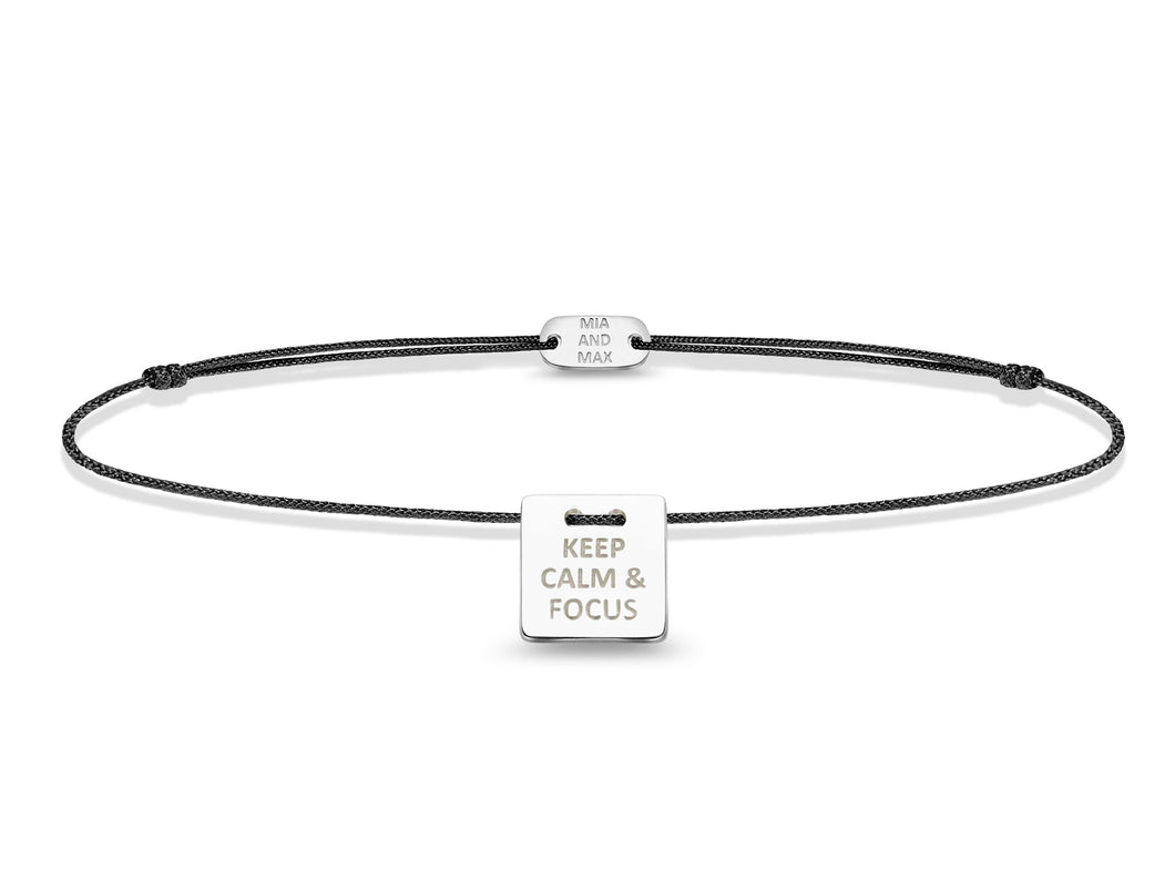 The KEEP CALM & FOCUS Bracelet | Sterling Silver