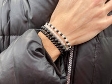 Load image into Gallery viewer, The 'Matte Black' Onyx Stone-Bead Bracelet | 4mm Beads