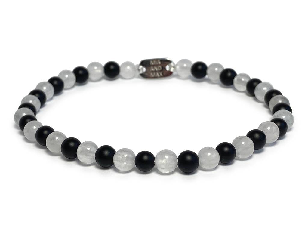 The 'Chess' Stone-Bead Bracelet | 4mm Beads
