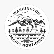 Load image into Gallery viewer, Vinyl Sticker | Washington - Pacific Northwest | limited edition