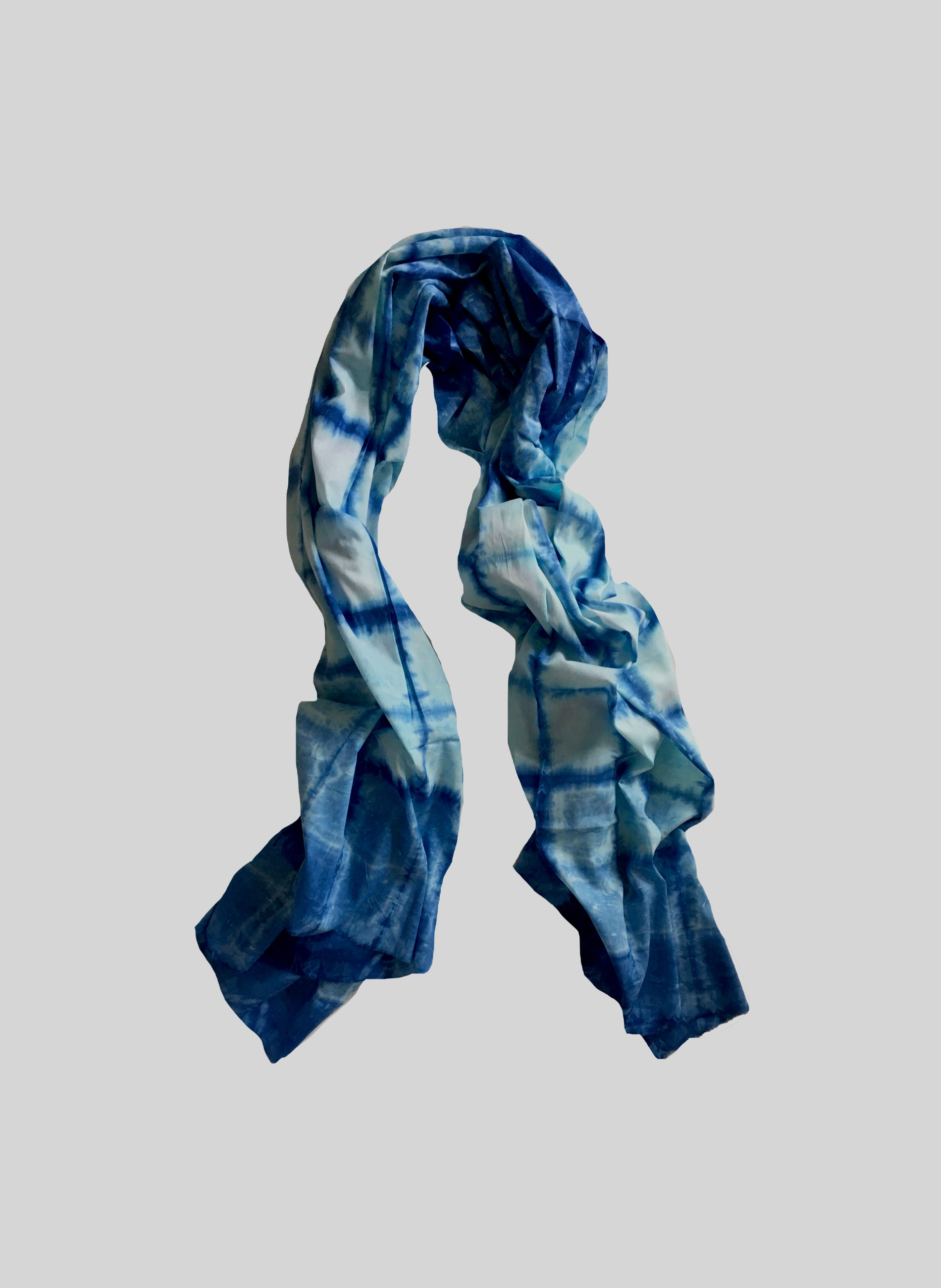 Shibori Art Cotton Scarf