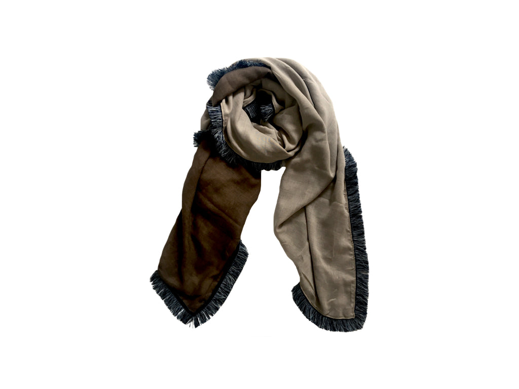 AURILL Fringed Cotton Scarf