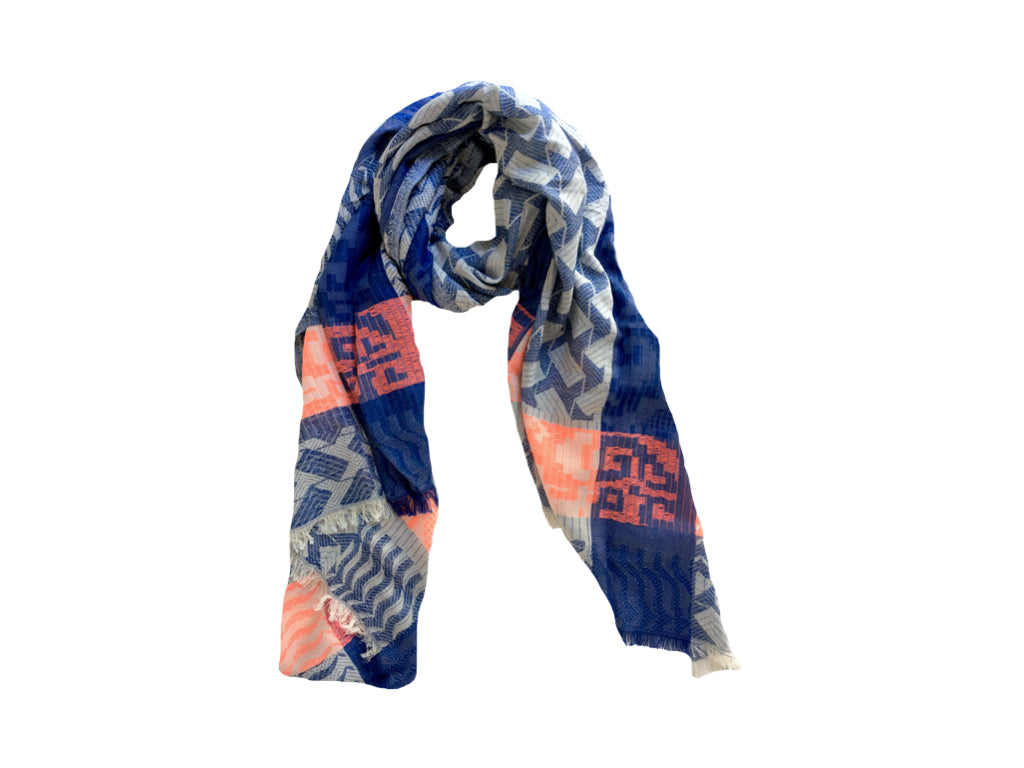 ASHER Jacquard Cotton Scarf