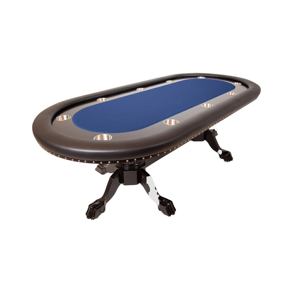 BBO Poker Tables Rockwell Black Oval Poker Table 10 Person