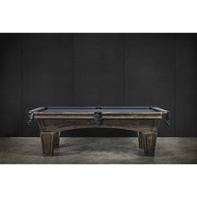 Load image into Gallery viewer, IRON SMYTH DON 8' SLATE POOL TABLE IN BROWNWASH FINISH