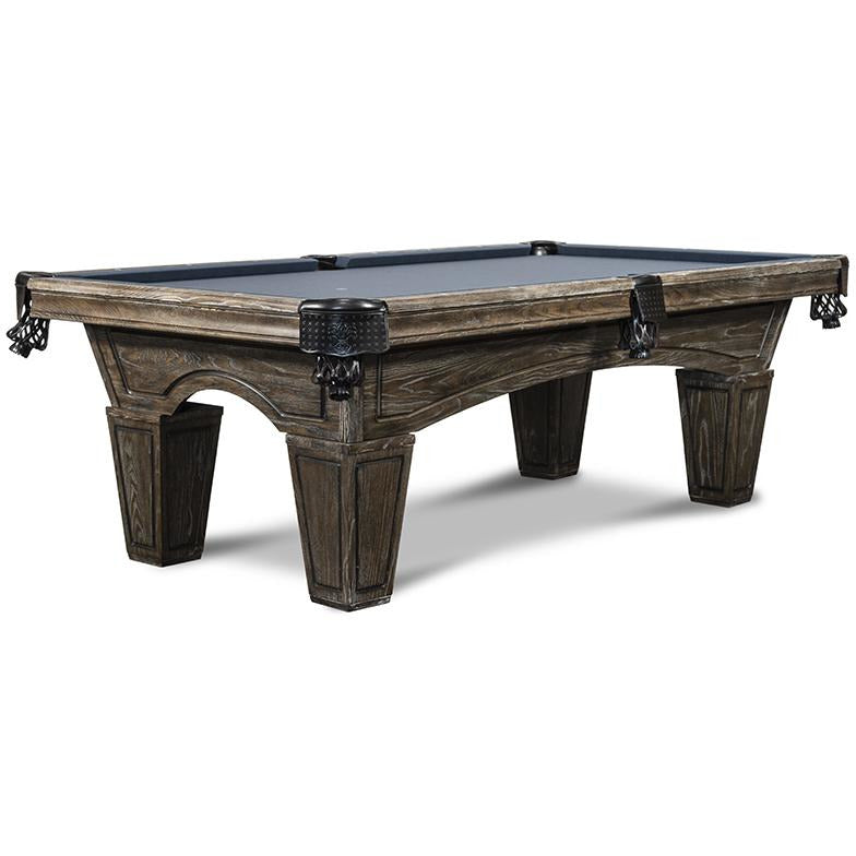 IRON SMYTH DON 8' SLATE POOL TABLE IN BROWNWASH FINISH