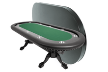 Load image into Gallery viewer, BBO Poker Tables Rockwell Black Oval Poker Table 10 Person