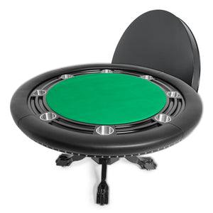 BBO Poker Tables Nighthawk Black Round Poker Table 8 Person