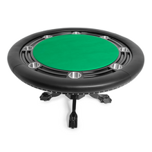 Load image into Gallery viewer, BBO Poker Tables Nighthawk Black Round Poker Table 8 Person