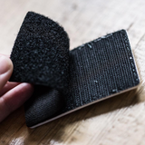 Velcro backing on 3D patches