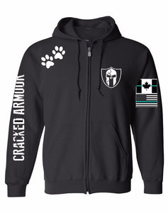 LIMITED PRODUCTION DOG PAW UNISEX ZIP UP
