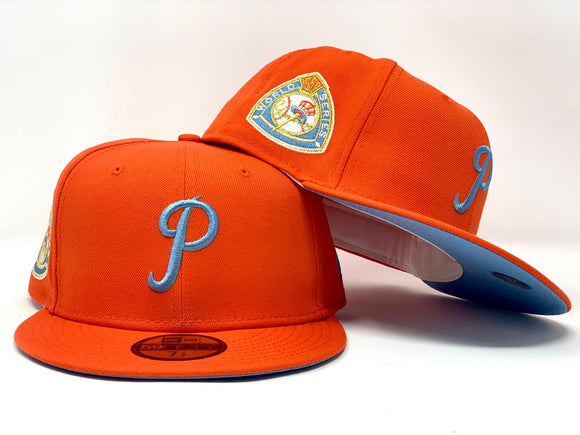 PHILADELPHIA PHILLIES 1950 WORLD SERIES ORANGE ICY BRIM NEW ERA CAP