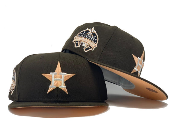 HOUSTON ASTRO 1986 ALL STAR GAME BROWN PEACH BRIM NEW ERA FITTED HAT