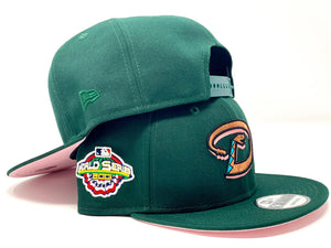 ARIZONA DIAMONDBACKS 2001 WORLD SERIES GREEN PINK BRIM SNAPBACK