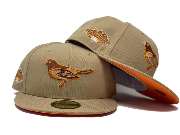 BALTIMORE ORIOLES 2017 ALL STAR GAME TAN ORANGE BRIM NEW ERA FITTED HAT