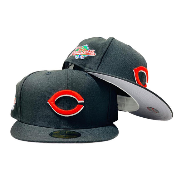 CINCINNATI REDS 1990 WORLD SERIES BLACK GRAY BRIM NEW ERA FITTED HAT