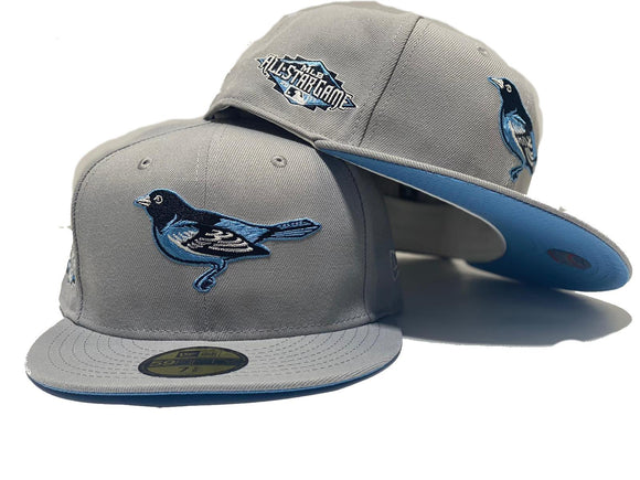 BALTIMORE ORIOLES 2011 ALL STAR GAME LIGHT GRAY ICY BRIM NEW ERA FITTED HAT
