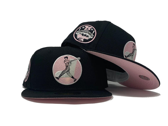 CHICAGO WHITE SOX 75TH YEARS COMISKEY PARK BLACK PINK BRIM NEW ERA FITTED HAT