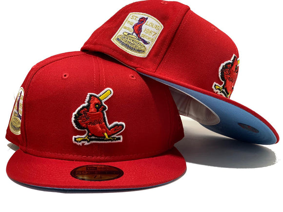 ST. LOUIS CARDINALS 1967 WORLD SERIES RED ICY BRIM NEW ERA FITTED HAT