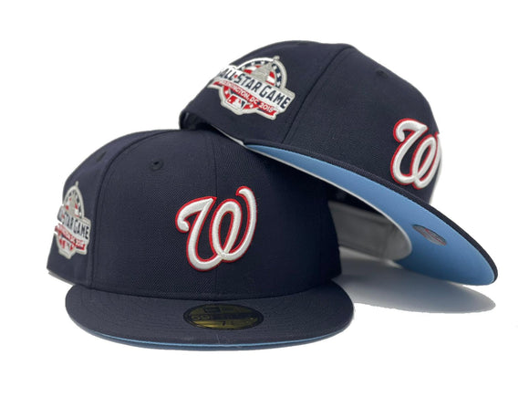 WASHINGTON NATIONAL 2018 ALL STAR GAME NAVY ICY  BRIM NEW ERA FITTED HAT