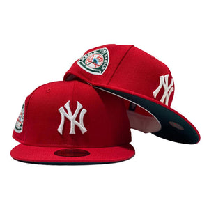 NEW YORK YANKEES 1950 WORLD SERIES XMAS COLOR NEW ERA FITTED HAT