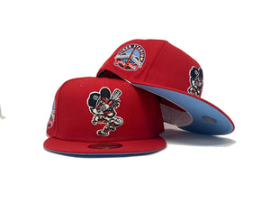 DETROIT TIGERS RED ICY BRIM NEW ERA FITTED HAT