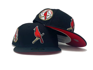 ST. LOUIS CARDINALS 1940 ALL STAR GAME BLACK RED BRIM NEW ERA FITTED HAT