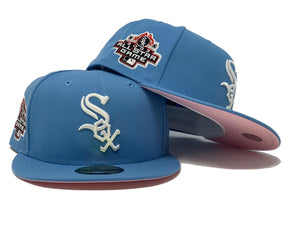 CHICAGO WHITE SOX 2003 ALL STAR GAME  SKY BLUE PINK BRIM NEW ERA FITTED HAT