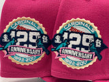 ST.  LOUIS CARDINALS 129TH  ANNIVERSARY FUSION PINK TEAL BRIM NEW ERA FITTED HAT