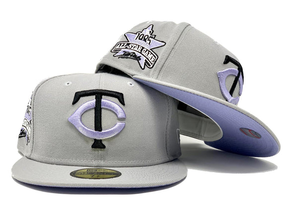 MINNESOTA TWINS 1985 ALL STAR GAME LIGHT GRAY LAVENDER BRIM NEW ERA FITTED HAT