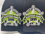 NEW YORK YANKEES 1995 ALL STAR GAME BLACK LIME GREEN BRIM NEW ERA FITTED HAT