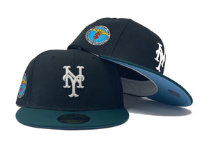 NEW YORK METS DEPT. OF SANITATION BLACK ICY BRIM NEW ERA FITTED HAT