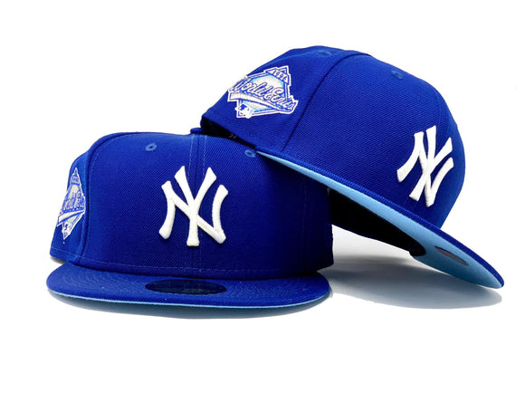 NEW YORK YANKEES 1996 WORLD SERIES LIGHT ROYAL ICY BRIM NEW ERA FITTED HAT