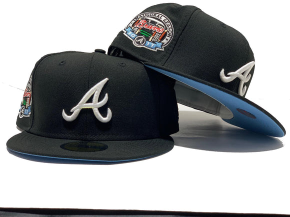 ATLANTA BRAVES 2017 INAUGURAL SEASON BLACK ICY BRIM NEW ERA FITTED HAT