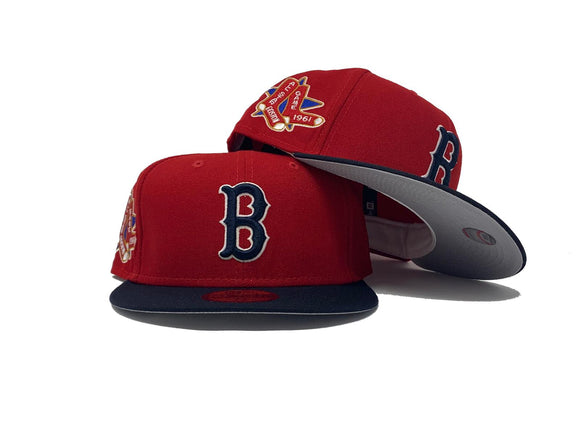BOSTON RED SOX 1961 ALL STAR GAME GRAY BRIM NEW ERA FITTED HAT
