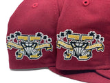 LAKE ELSINORE STORM 75TH ANNIVERSARY BURGUNDY PINK BRIM NEW ERA FITTED HAT