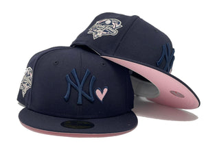 NEW YORK YANKEES 2000 WORLD SERIES NAVY PINK BRIM NEW ERA FITTED HAT