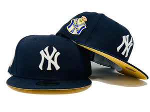 NEW YORK YANKEES 1951 WORLD SERIES NAVY METALLIC GOLD BRIM NEW ERA FITTED HAT