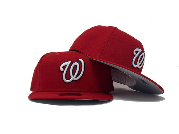 WASHINGTON NATIONALS CLASSIC ON FIELD GRAY BRIM NEW ERA FITTED HAT