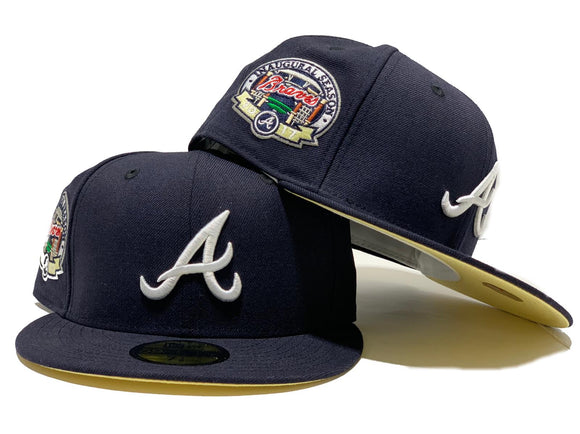 ATLANTA BRAVES 2017 INAUGURAL SEASON NAVY BLUE BUTTER POPCORN BRIM NEW ERA FITTED HAT