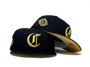 CINCINNATI REDS  1969 BLACK METALLIC GOLD BRIM NEW ERA FITTED HAT