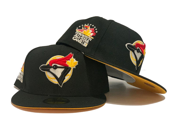 TORONTO BLUE JAYS 1991 ALL STAR GAME BLACK YELLOW BRIM NEW ERA FITTED HAT