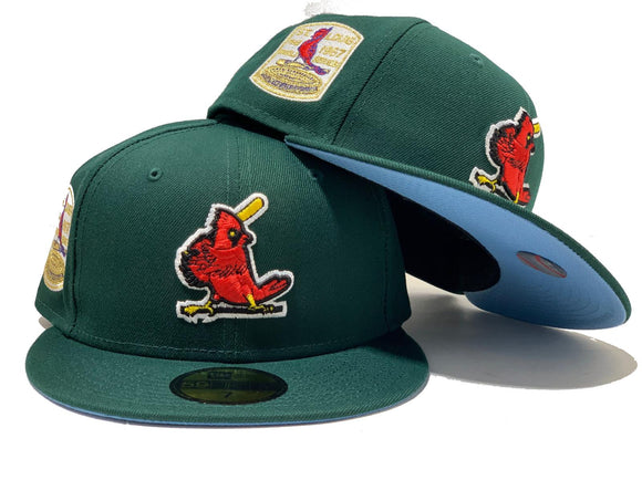 ST. LOUIS CARDINALS 1967 WORLD SERIES DARK GREEN ICY BRIM NEW ERA FITTED HAT